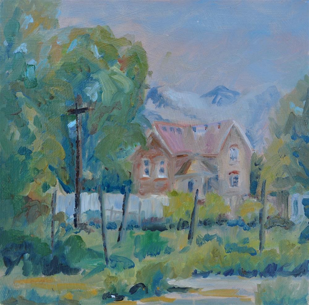 """House Around Corner"" original fine art by Catherine Crookston"