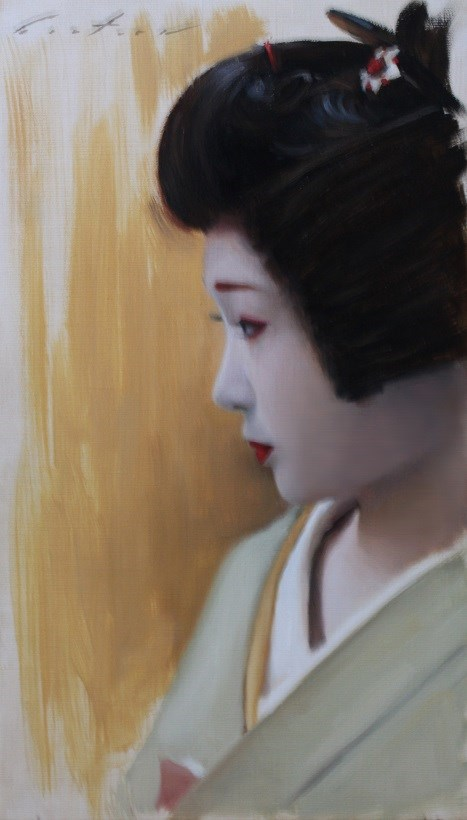 """Katsuru in Profile"" original fine art by Phil Couture"