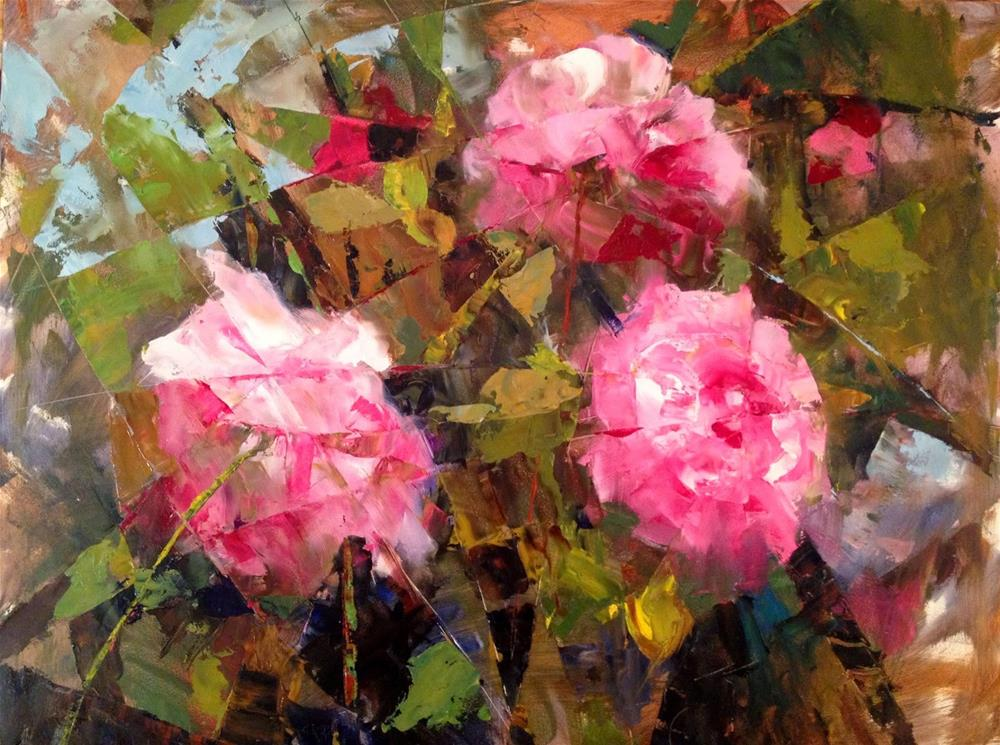 """The Logic of a Summer Garden II 20x16"" original fine art by Ann Feldman"