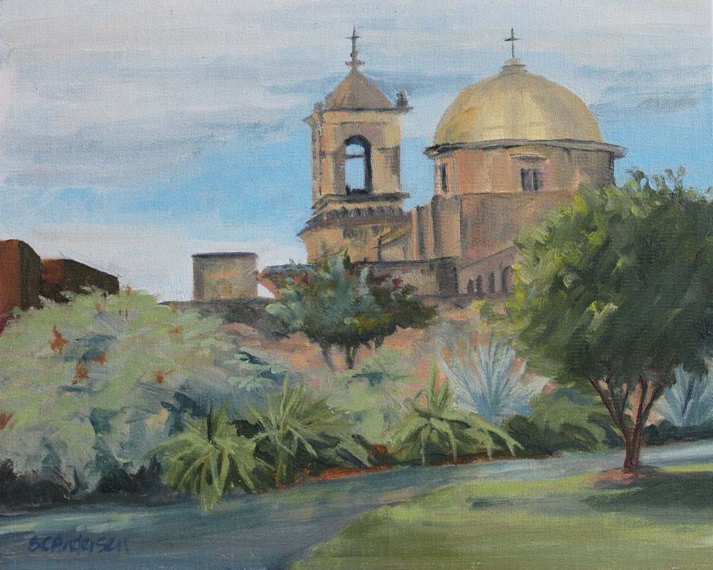"""Mission San Jose"" original fine art by Susan Andersen"
