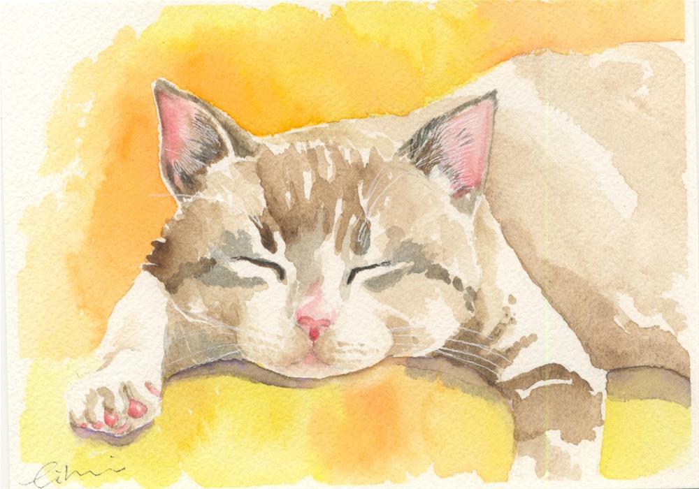 """lazy day"" original fine art by Hui (Hue) Li"