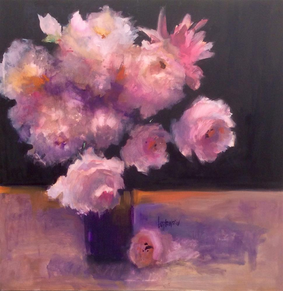 """Peony Obsession"" original fine art by Laurie Johnson Lepkowska"