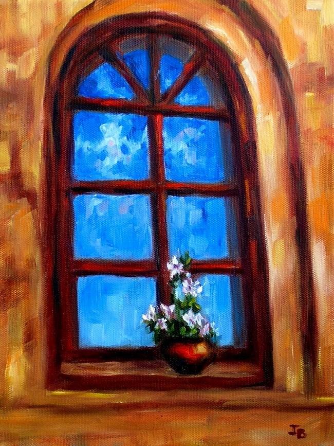 """Greek Monastery Window"" original fine art by Irina Beskina"