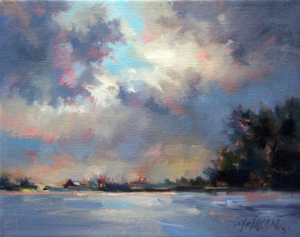 """Silver Lining"" original fine art by Mary Maxam"
