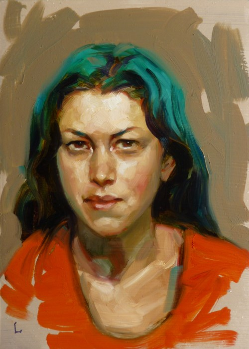 """Aqua and Coral"" original fine art by John Larriva"