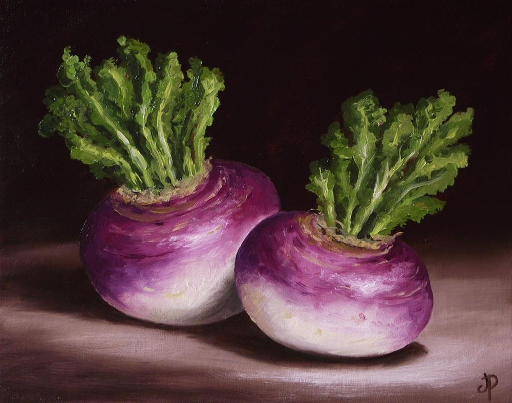 """Turnips"" original fine art by Jane Palmer"