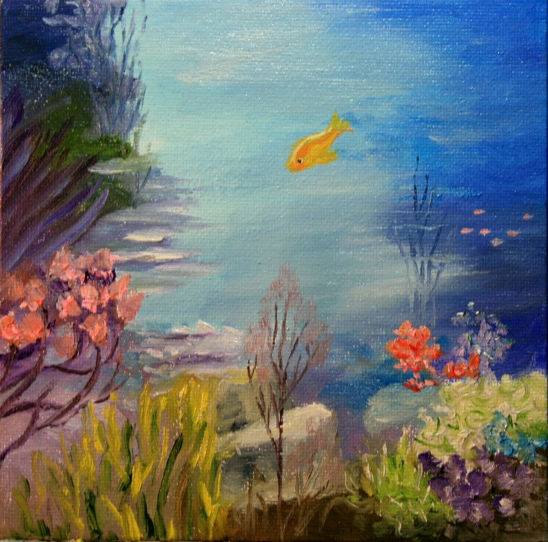 """Under the Sea"" original fine art by Jean Nelson"