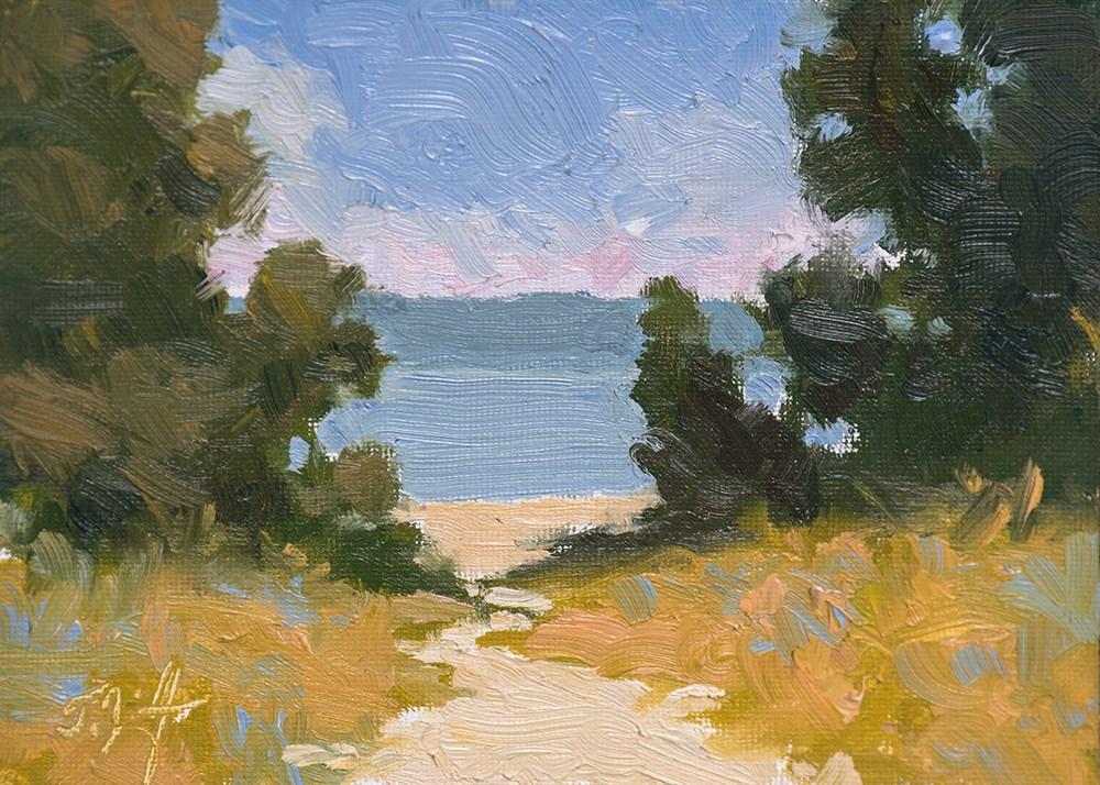 """Path to Blue"" original fine art by Todd Zuithof"