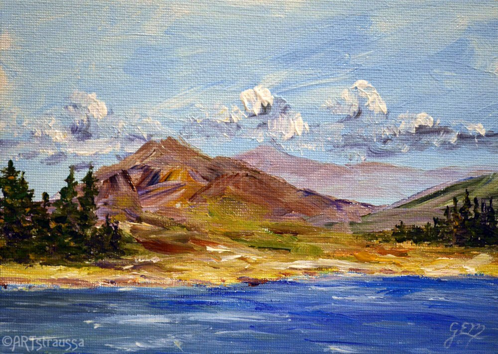"""Shona Hills"" original fine art by Gloria Ester"
