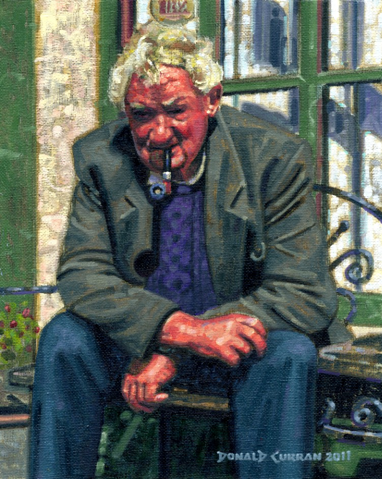 """An Irish Gentleman"" original fine art by Donald Curran"