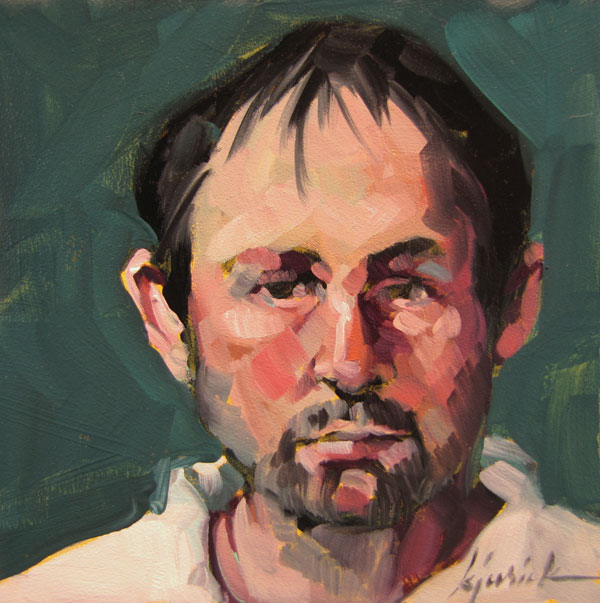 """100 Faces, No. 70"" original fine art by Karin Jurick"