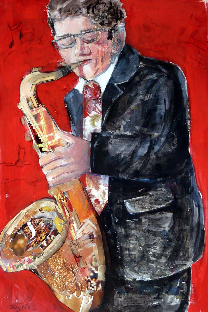 """Music Man"" original fine art by Suzy 'Pal' Powell"