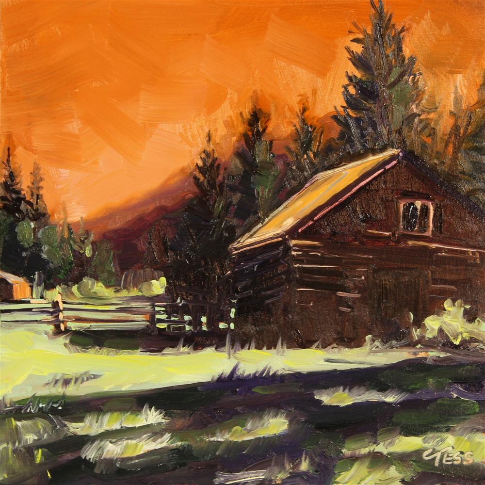 """""""Morning Has Broken- Cat Stevens"""" original fine art by Tess Lehman"""