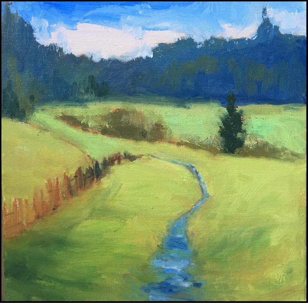 """It's Green, they say, on the Far Side of the Hill"" original fine art by Victoria  Biedron"