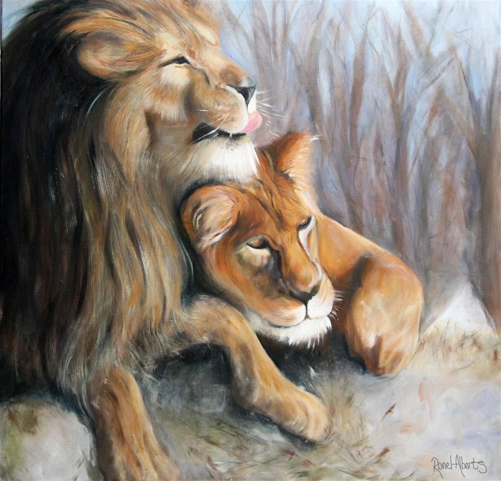 """""""Companionship"""" original fine art by Ronel Alberts"""