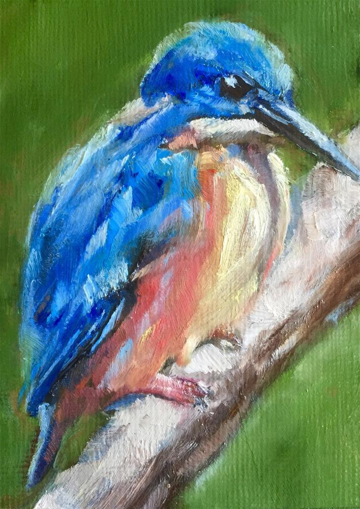 """Little Kingfisher"" original fine art by Gary Bruton"