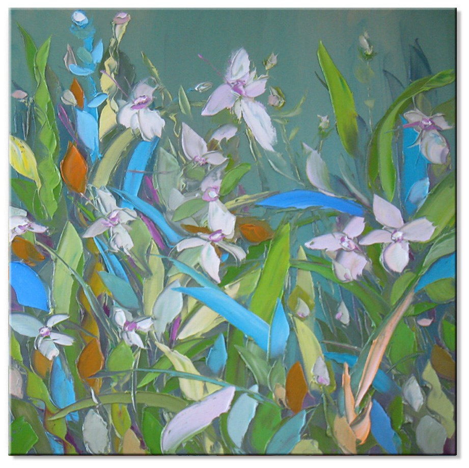 """Blooming lily"" original fine art by Elena Lunetskaya"