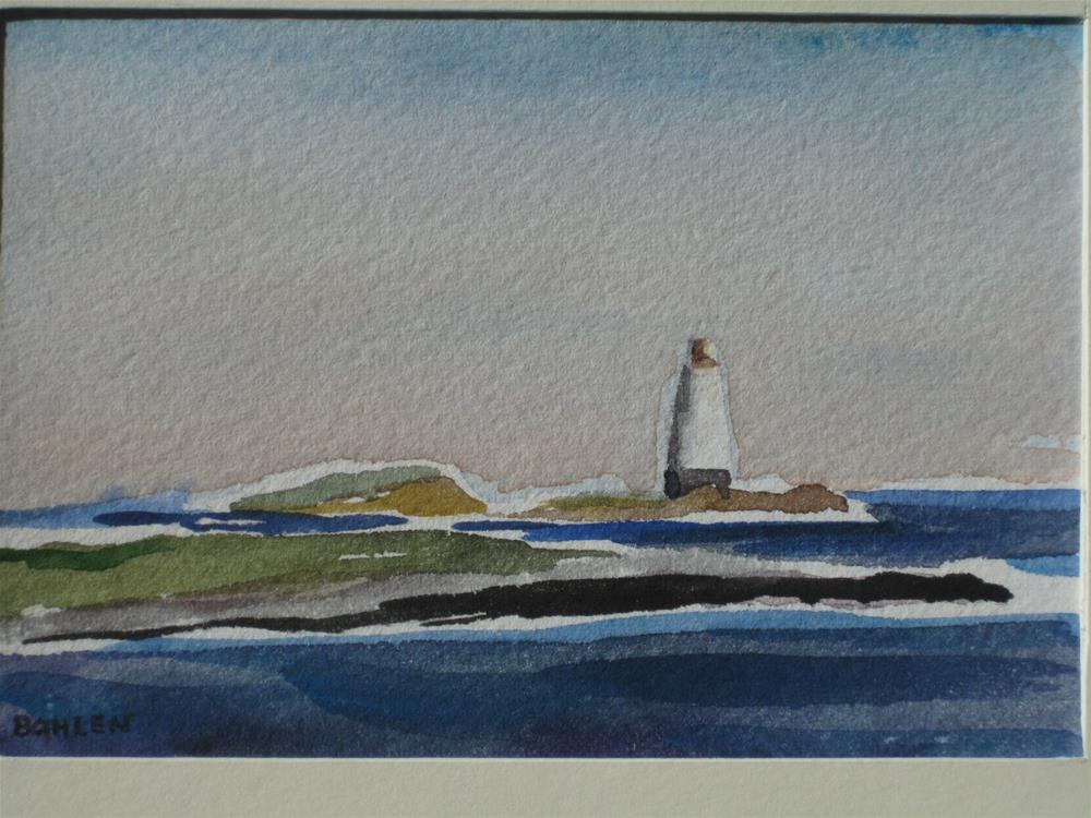 """Lighthouse"" original fine art by Priscilla Bohlen"