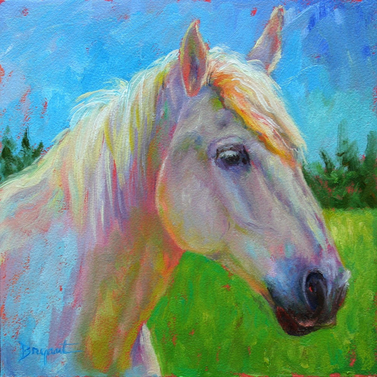 """Moxy"" original fine art by Debra Bryant"