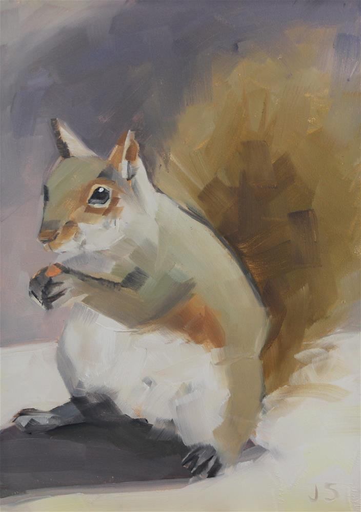 """Squirrel"" original fine art by Jamie Stevens"