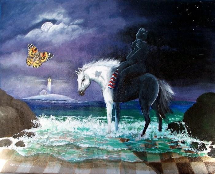 """""""Night and Day"""" original fine art by Patricia Ann Rizzo"""