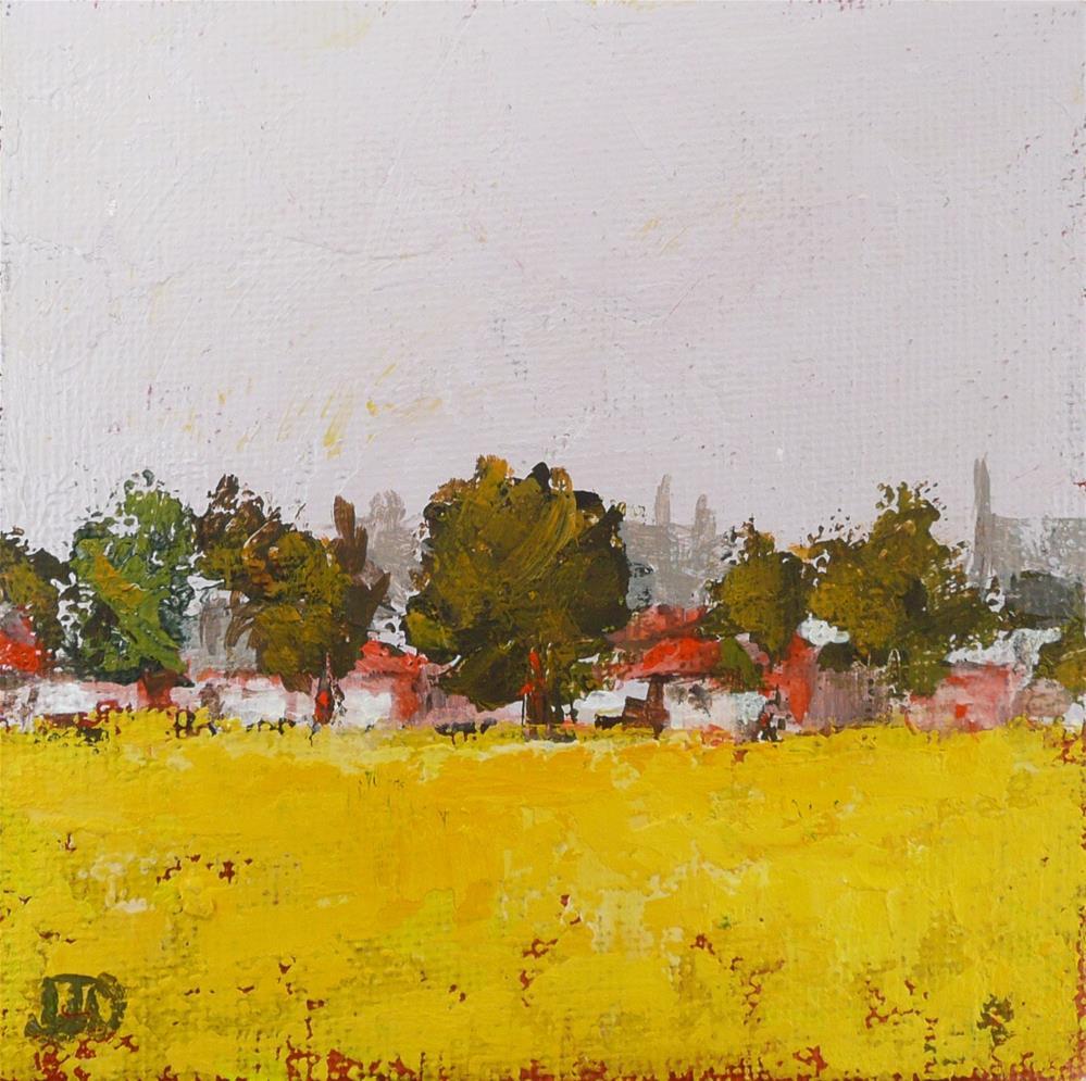 """""""Field Of Happiness"""" original fine art by Leanne Owen"""