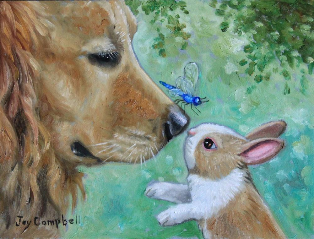 """A Meeting of Minds"" original fine art by Joy Campbell"
