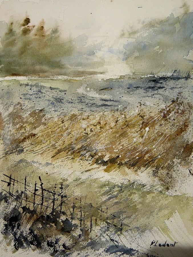 """""""watercolor 201205"""" original fine art by Pol Ledent"""