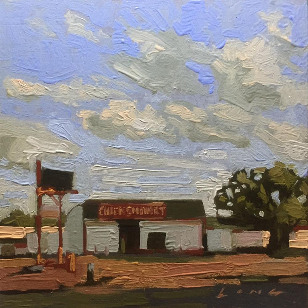 """Chicken Mart"" original fine art by Chris Long"