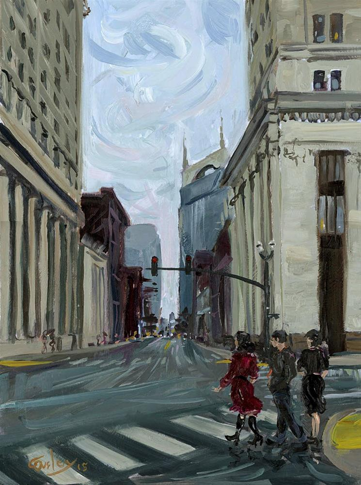 """3rd & Union Nashville TN"" original fine art by Chris Ousley"