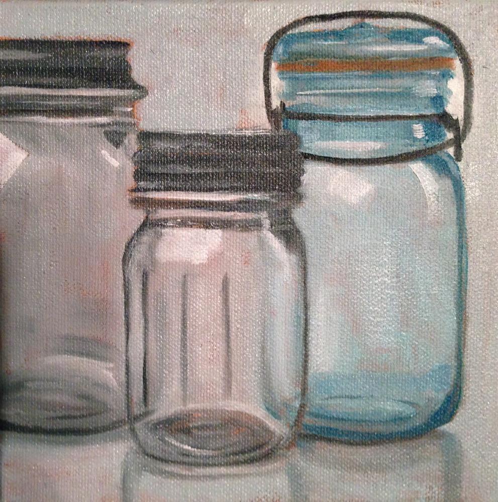 """Mason Jars"" original fine art by Claire Henning"