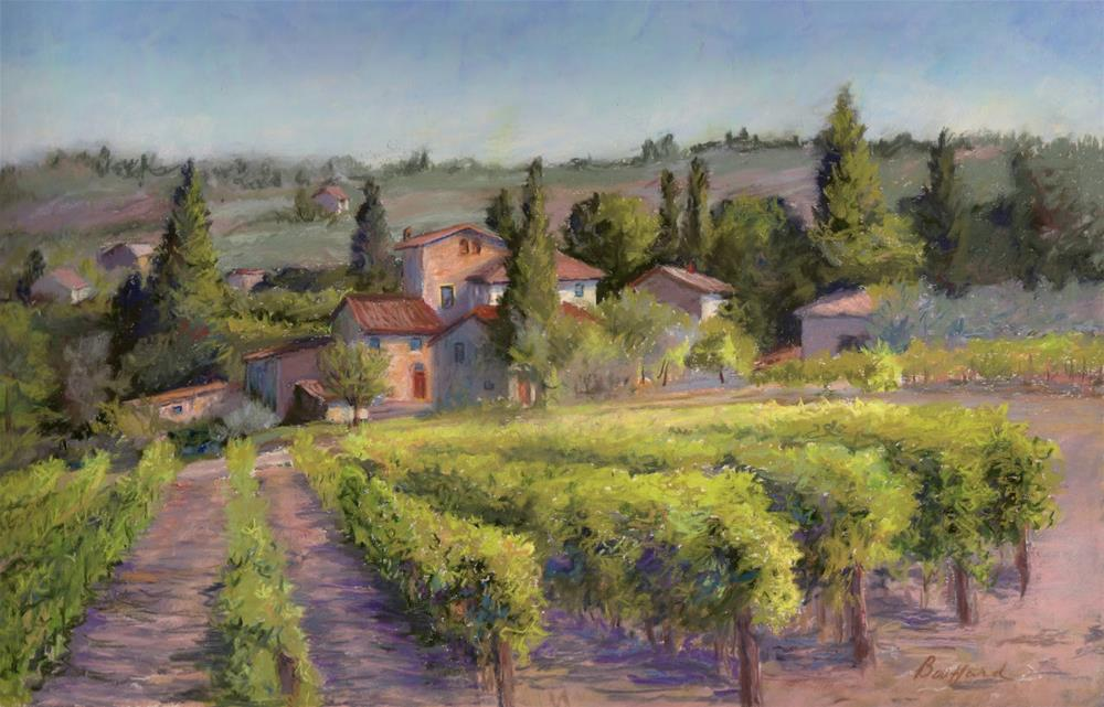 """Chianti Vineyard"" original fine art by Vikki Bouffard"