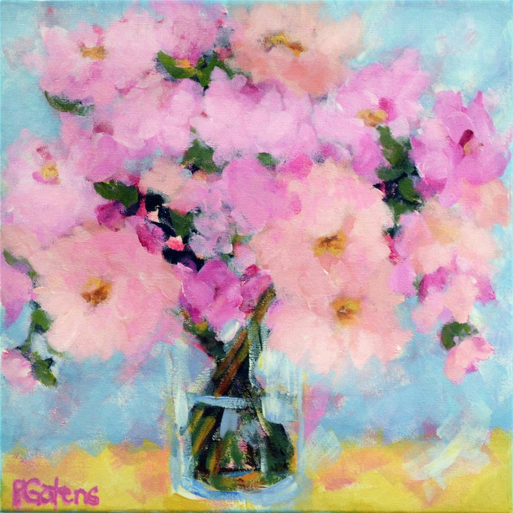 """Pink Cloud Peonies"" original fine art by Pamela Gatens"
