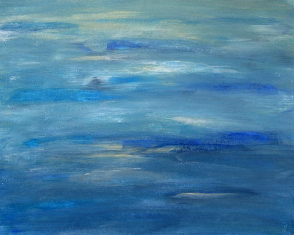 """Ocean's Blue"" original fine art by Alina Frent"