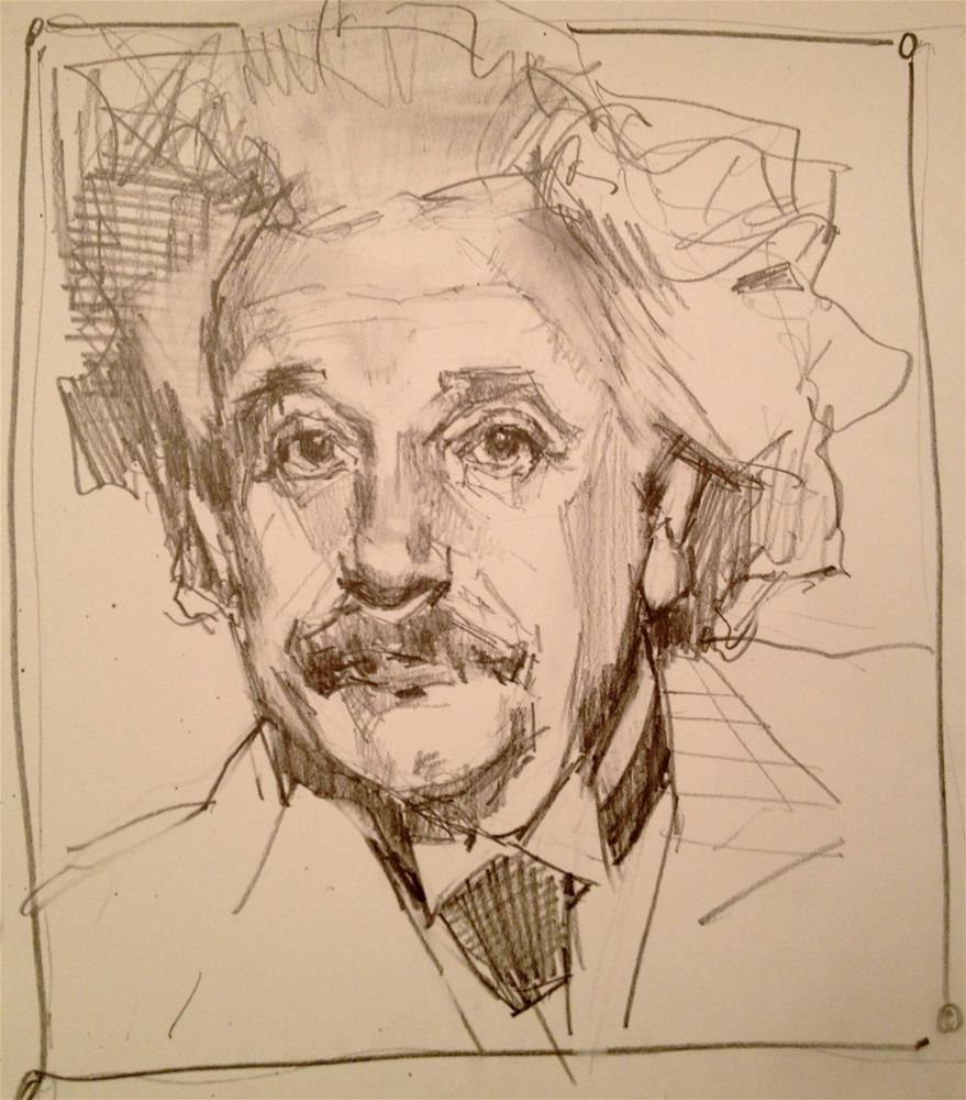 """My Einstein"" original fine art by Laurie Johnson Lepkowska"