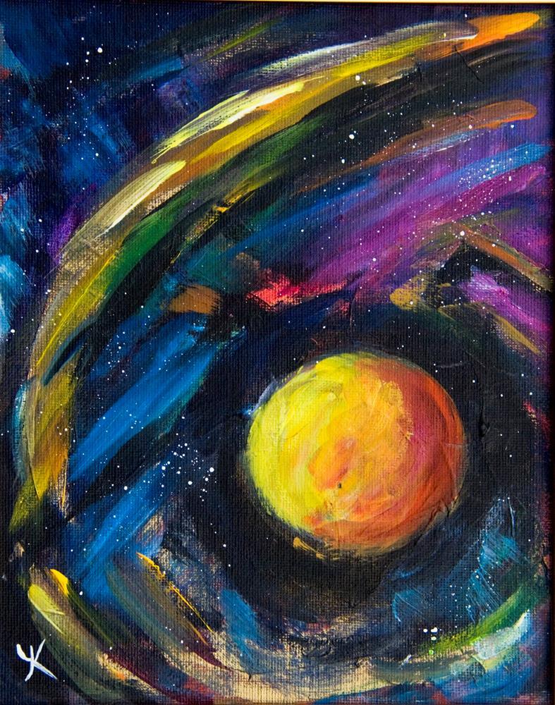 """Neounic Wave"" original fine art by Yulia Kazansky"