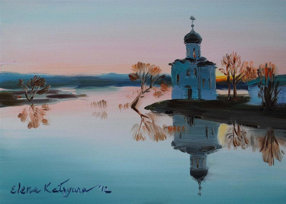 """Silent Sunset"" original fine art by Elena Katsyura"