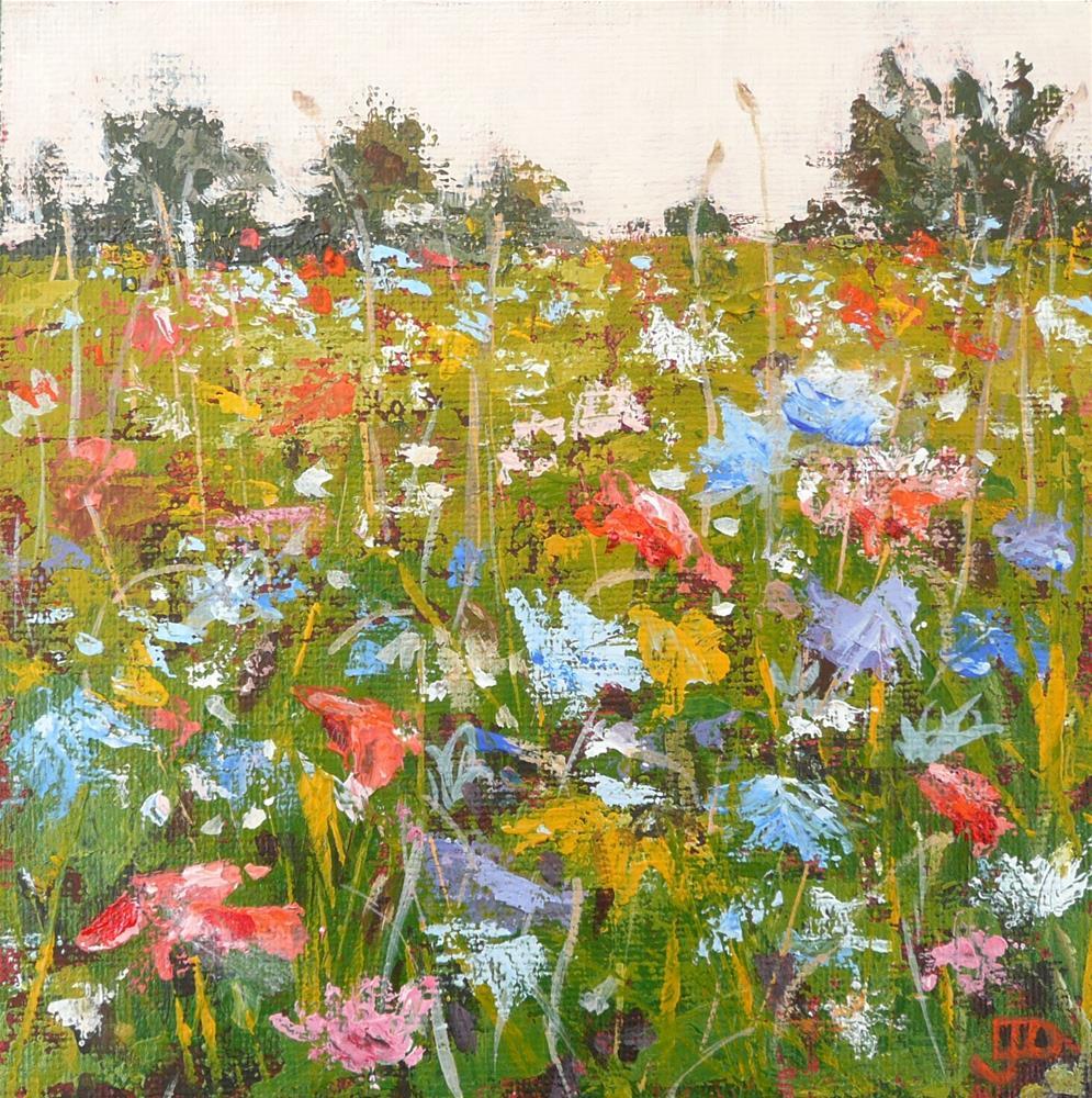 """""""Spring In The Field"""" original fine art by Leanne Owen"""