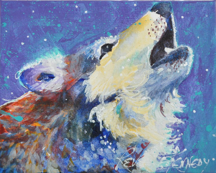 """OCCA Howler"" original fine art by Reveille Kennedy"