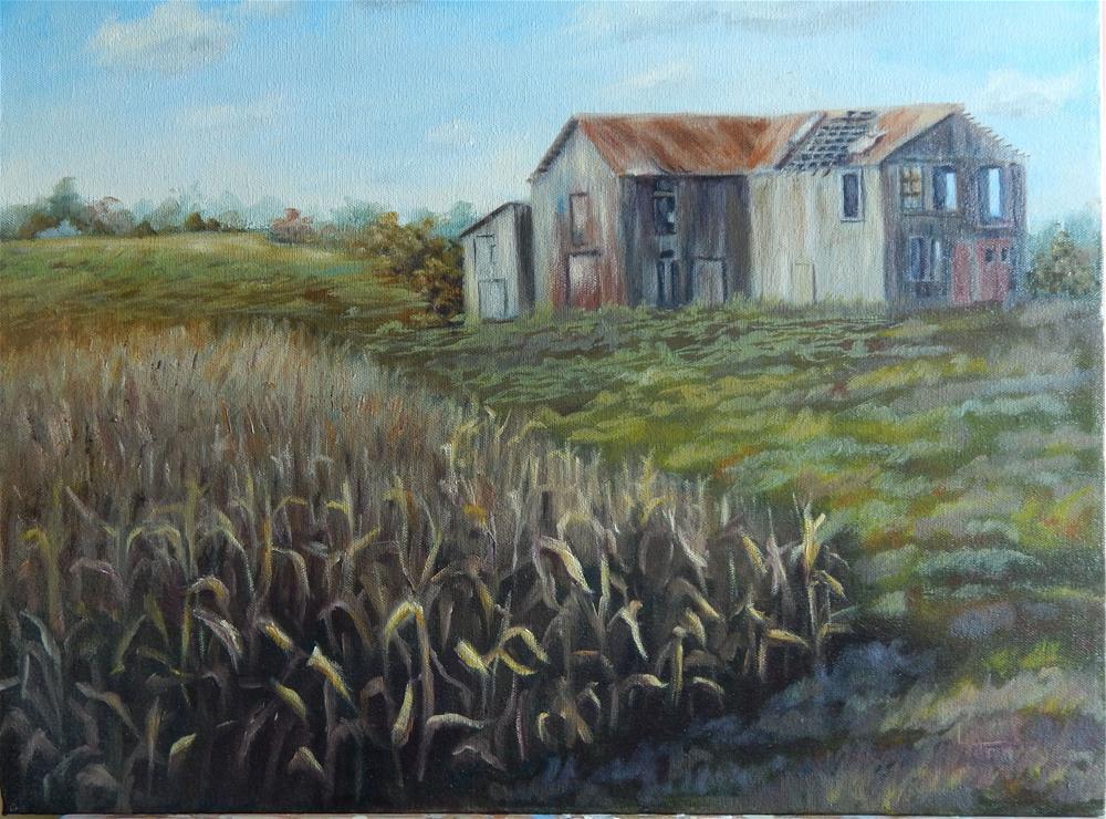 """Abandoned Barn"" original fine art by Lina Ferrara"