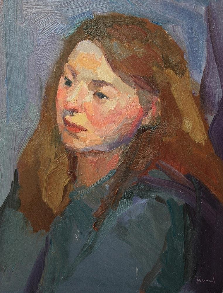 """Portrait Study #25"" original fine art by Kathryn Townsend"