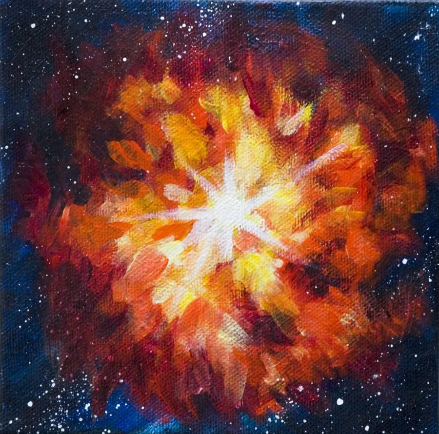 """Supernova Explosion"" original fine art by Yulia Kazansky"