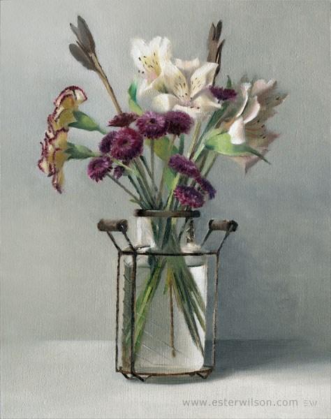 """Country Bouquet"" original fine art by Ester Wilson"