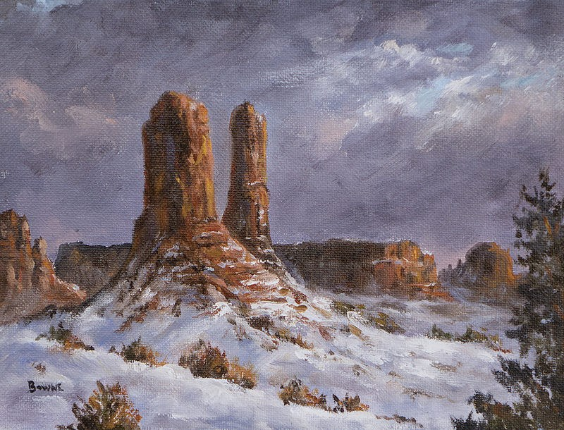 """Monument Valley"" original fine art by Bonnie Bowne"
