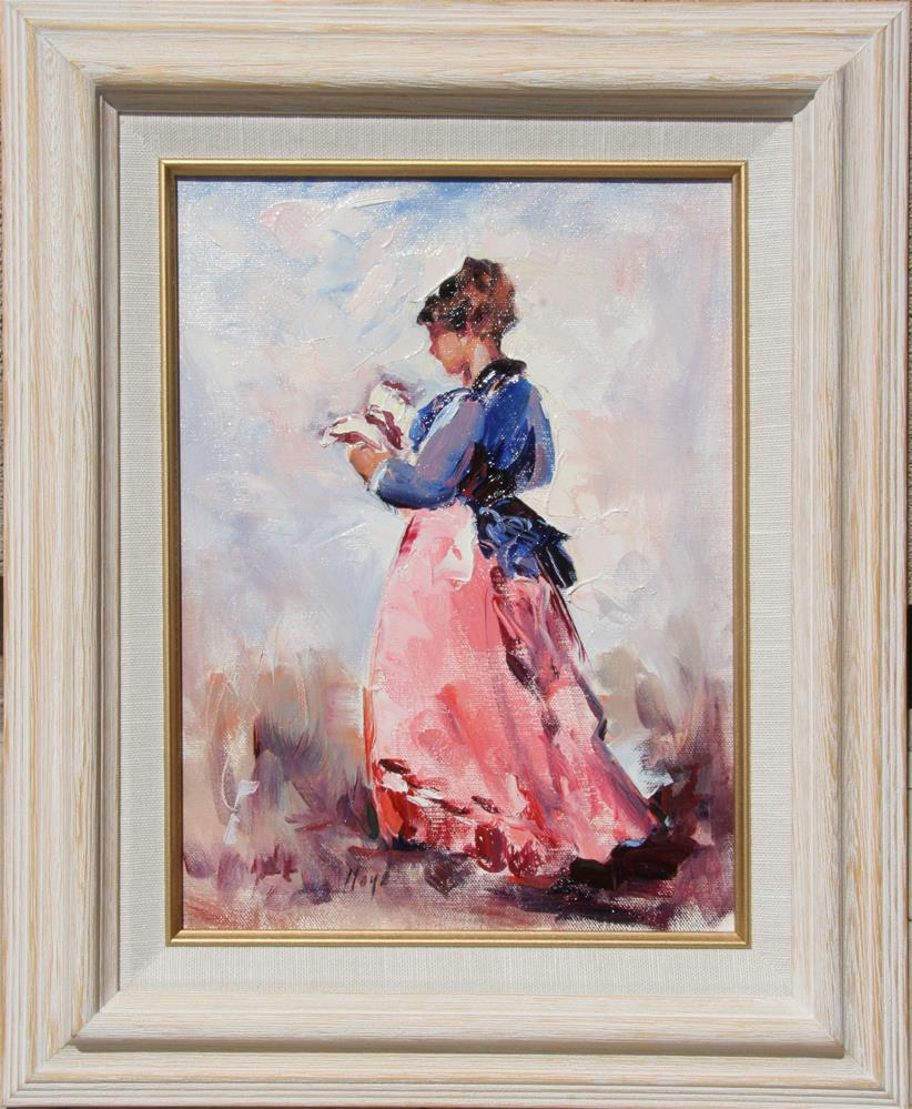 """The Reader"" original fine art by Diane Lloyd"