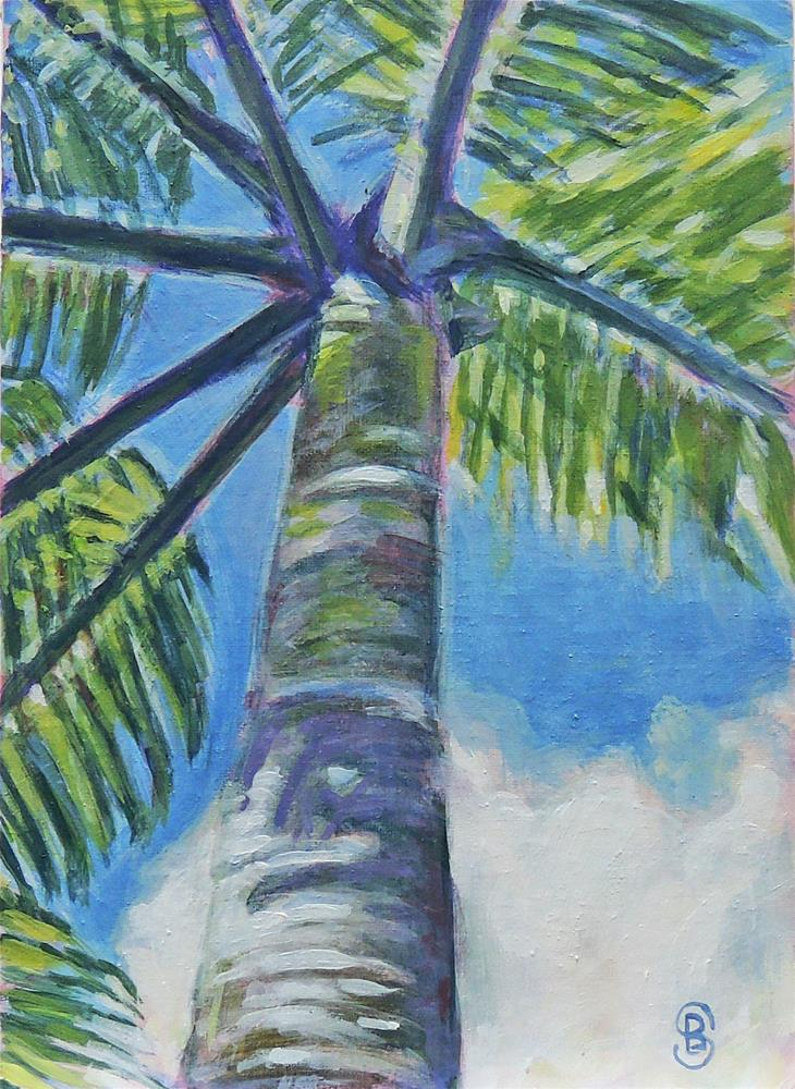 """Dressed In Green and Blue"" original fine art by Belinda Scheber"