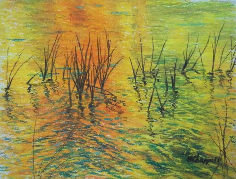 """""""Reeds II"""" original fine art by Becky Chappell"""