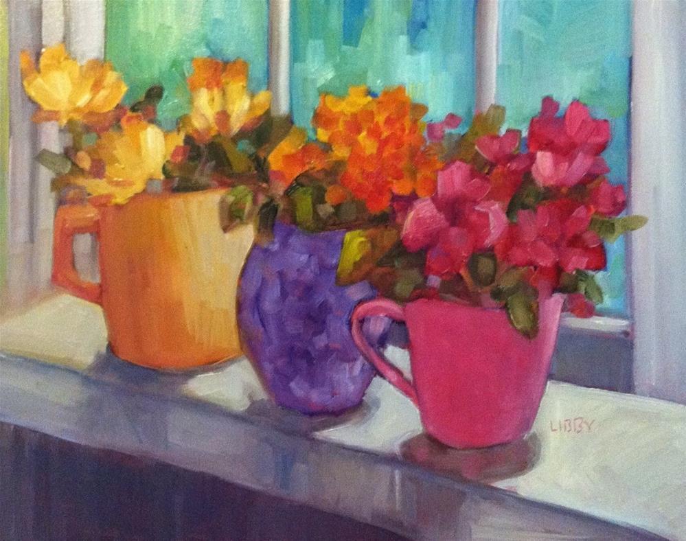 """Enjoying the Sun"" original fine art by Libby Anderson"
