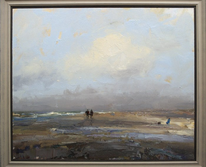 """Big Seascape Pleinair"" original fine art by Roos Schuring"