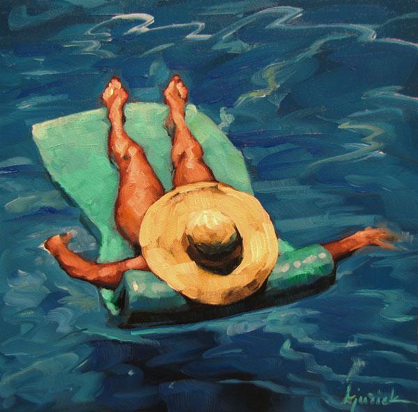 """Pool Room"" original fine art by Karin Jurick"